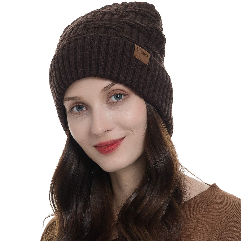 Beanie for Men Women Winter Warm Thick Fleece Lined Knit Baggy Slouchy Beanie Hats
