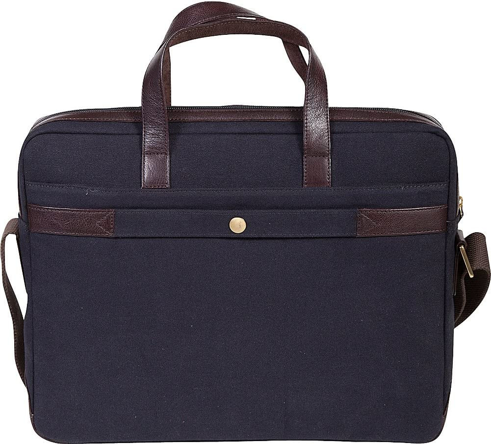 Scully Cambria Laptop Brief Brown//Navy One Size