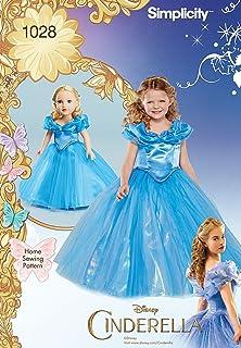 7c3c888aa0fb Simplicity 1028 Disney Cenerentola, Costume per bambino, 45 cm e da cucito