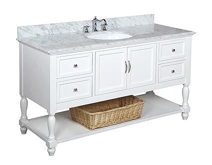 white single urbana inch product garden vanity bathroom free home shipping set
