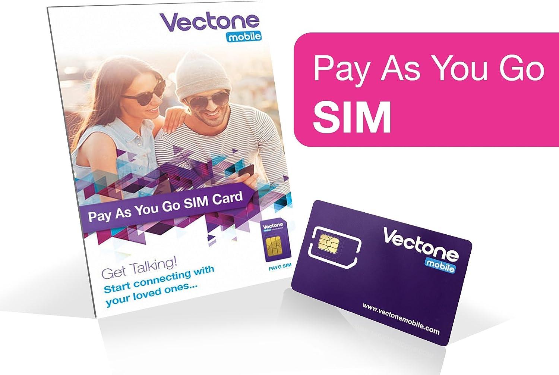 Vectone Mobile triple tarjeta SIM abonas según tu consumo con + £1 de crédito: Vectone Mobile: Amazon.es: Electrónica