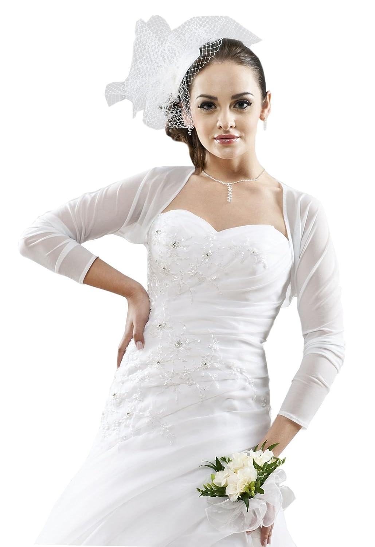 Bolero Jacke Jäckchen aus Stretch-Tüll zum Brautkleid / Abendkleid ...