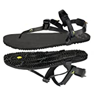 Luna Sandals Leadville Pacer | Unisex Black Athletic Sandals 4.45oz Adjustable Fit