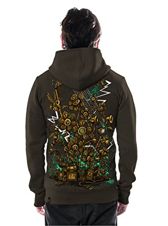 Amazon.com: Mens Sound Garden Hoodie Graphic Print Psychedelic Mud Zip-Up Heavy Pullover: Clothing