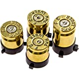 Xbox One Bullet Buttons Raplacement A B X Y Real Bullet Brass Casings Gold Brass w/Silver Nickel Primer