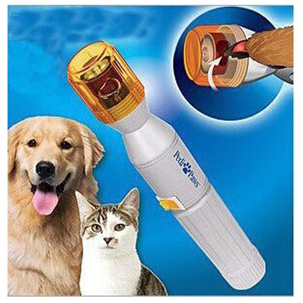 Fakeface Battery Powered Safe Auto Electric Pet Nail Clippers Trimmer Dog Cat Gentle Claw Paw Care Grinder Grooming Drill File Kit Nail Gentle Filing Wheel Shedding Manicure Pedicure Tool Set