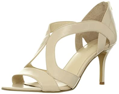 c5271a0c2ab8 Nine West Gigglygirl Womens Nude Open Toe Leather Dress Sandals Shoes UK 8