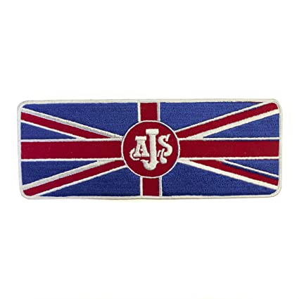 Amazon Com Ajs Motorcycle Logo British Flag Patch Embroidered