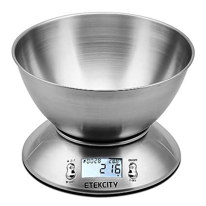 etekcity bilancia da cucina elettronica in acciaio inossidabile  Etekcity Bilancia da Cucina Elettronica in Acciaio Inossidabile 5kg ...