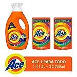 Ace Ace Uno Para Todo Detergente Líquido 1.2lts + 2 Refills De 700ml Con U, 2.6lts En Total, Pack of 1