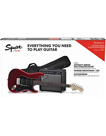 Fender Affinity Stratocaster HSS Pack Candy Apple Red + Frontman 15G + Funda