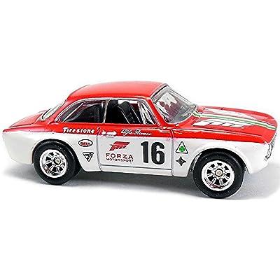 Red/White Alfa Romeo Giulia Sprint GTA Retro Forza Motorsport Series 1:64 Scale Collectable Die Cast Model Car #3/5: Toys & Games