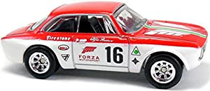 Red/White Alfa Romeo Giulia Sprint GTA Retro Forza Motorsport Series 1:64 Scale Collectable Die Cast Model Car #3/5