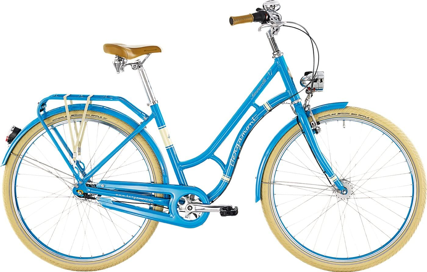 Bergamont Summer Ville N-7 71.12 cm Diseño de Bicicleta de Colour Azul/Blanco 2015, Color, tamaño 52cm (171-176cm): Amazon.es: Deportes y aire libre