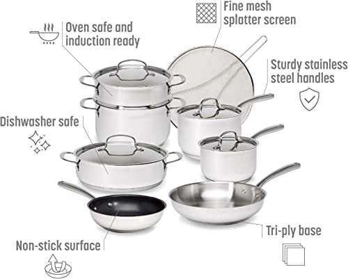 Goodful Classic Stainless Steel Cookware Set