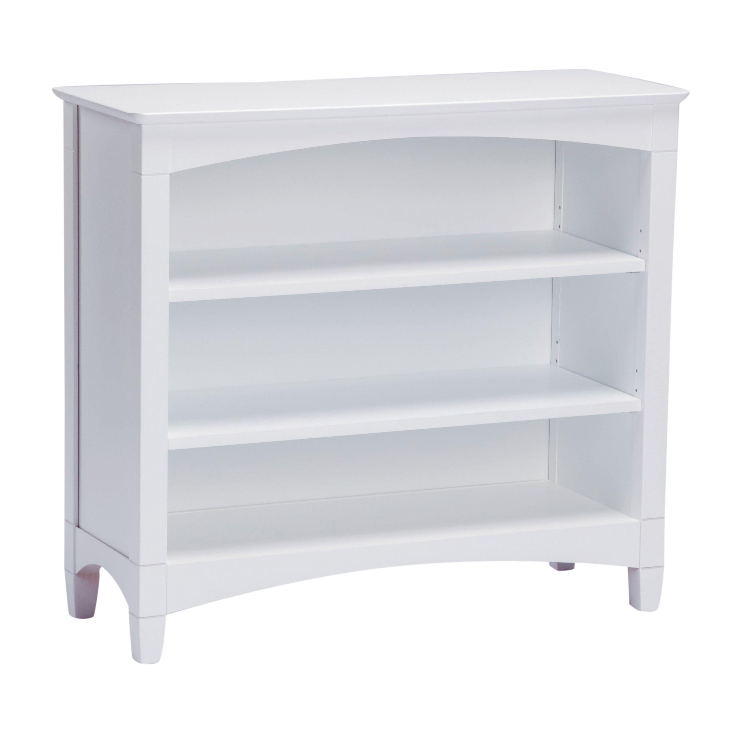 Bolton Furniture Essex Low Bookcase, White