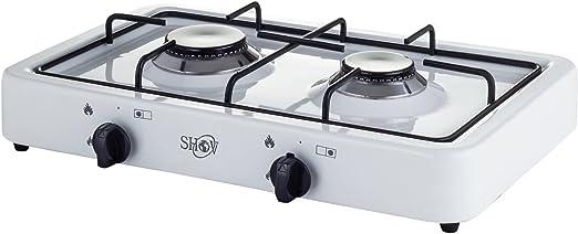 Shov Camping Gas Eléctrica Doble 2 Cocción Hobs Placa de ...
