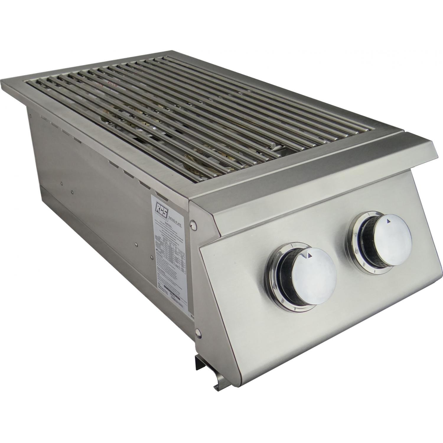 RCS Built-in Propane Gas Stainless Steel Double Side Burner by RCS