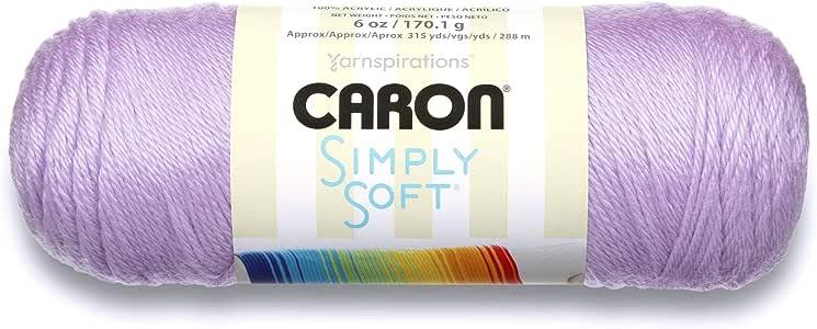 White Caron Simply Soft Solids Yarn 4 6 oz Medium Gauge 100/% Acrylic Machine Wash /& Dry