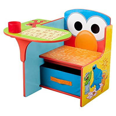 Delta Children Sesame Street Kids Desk Chair, Under-The-seat Storage, Sturdy and Durable: Toys & Games
