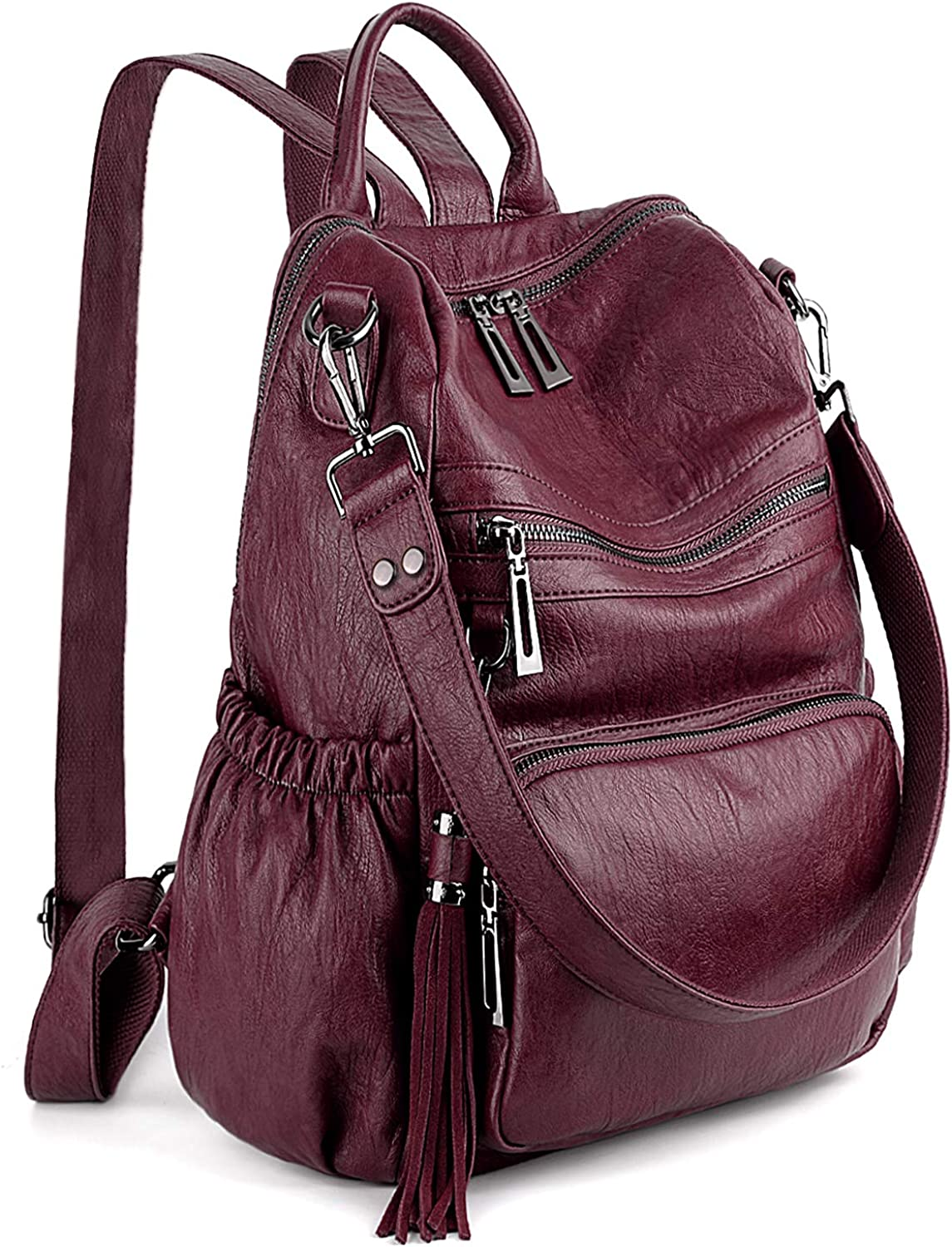 UTO Women Backpack Purse PU...