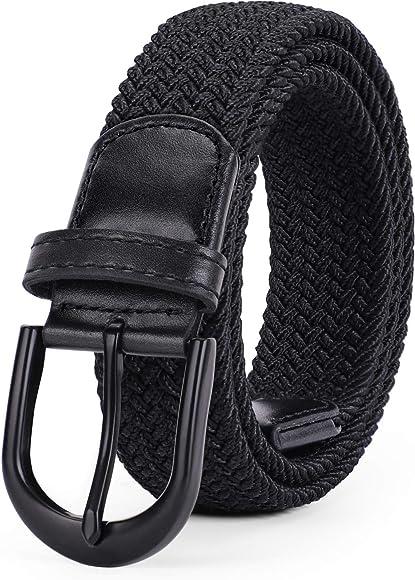 Braided Elastic Belt Woven Canvas Stretch Belts for MenWomenJunior by WERFORU