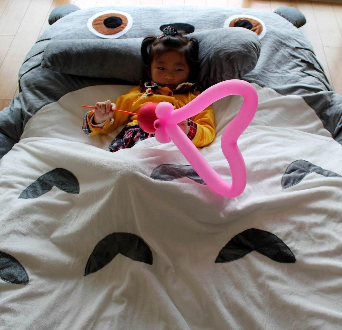Huge Cute Cartoon otoro Sleeping Bag Totoro Bed Totoro Double Bed (3.6x1.9m)