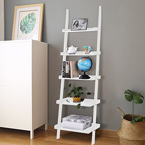 White Ladder Shelf With Four Tiers: Amazon.co.uk: Kitchen