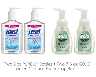 Amazon Com Advanced Hand Sanitizer Gel And Gojo Green Certified