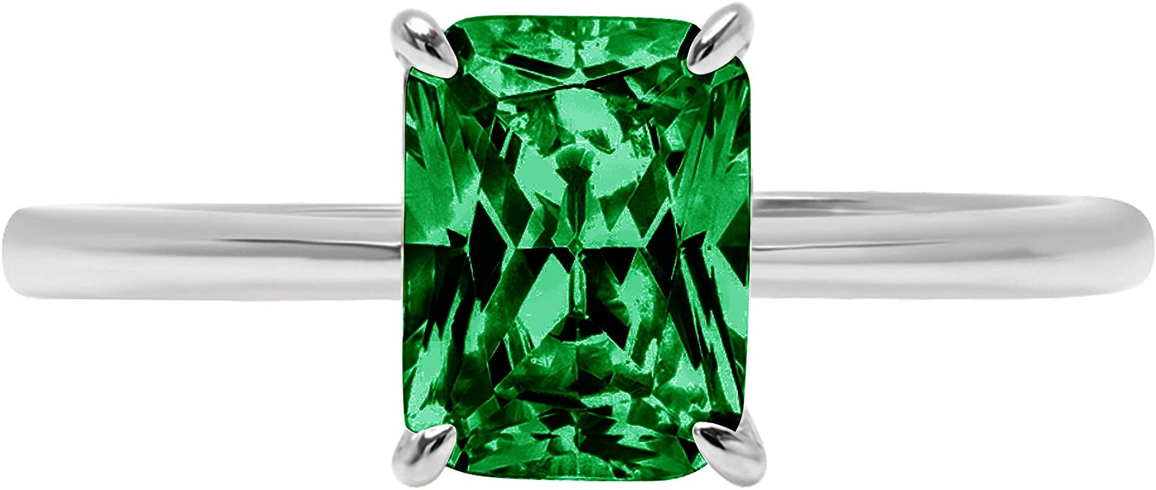 SGL Certified Solitaire Gemstone Ring Wedding Bridal Statement Promise Ring Minimalist Beaded Engraved Ring 0.52 Ct Oval Shape Emerald Gold Ring