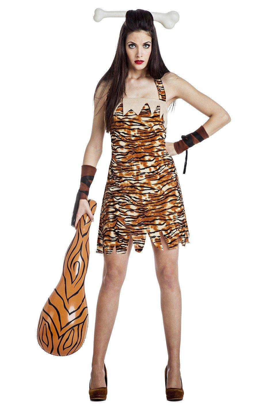Kimokawaii - Disfraz de Mujer Troglodita Talla S: Amazon.es ...