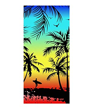 Stillshine Toallas De Playa Toalla De Baño Absorción De Agua Secado Rápido Microfibra 3D Tiger Hawaii Patrón Toalla para Viajar Surf Sauna Piscina 70 x 150 ...