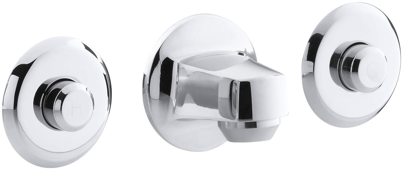Vandal-Resistant Lavatory Faucet Polished Chrome KOHLER K-7485-C-CP Shelf-Back