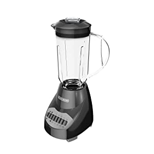 BLACK+DECKER Crush Master 10-Speed Blender, Black, BL2010BP (Renewed)