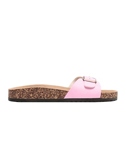 KRISP Damen Flache Retro Schlappen Sandalen Strand Sommer Schuhe