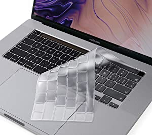 """Premium Ultra Thin Keyboard Cover Skin Compatible 2020 MacBook Pro 13 inch with Magic Keyboard and MacBook Pro 16""""(Apple Model Number A2289 A2141), MacBook Pro 13 Accessories"""