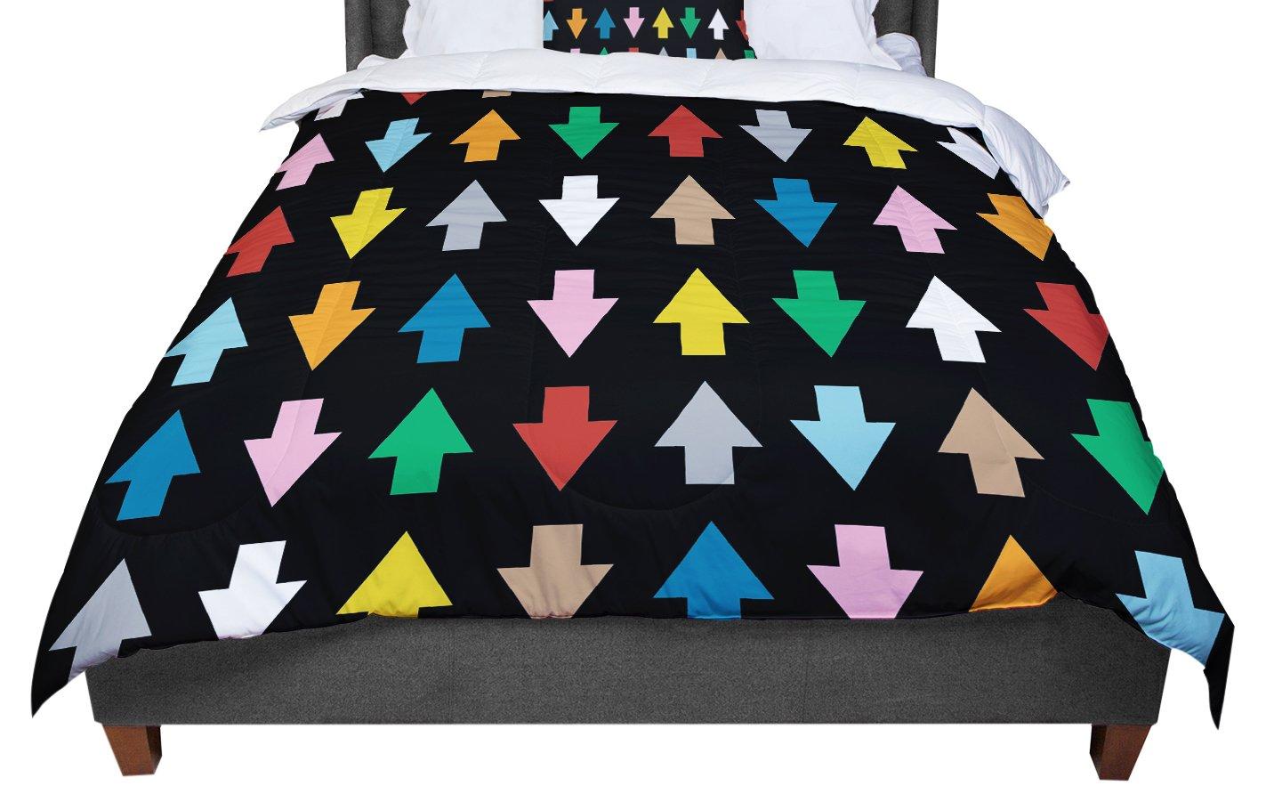 KESS InHouse Project M Arrows Up /& Down Black Twin Comforter 68 X 88