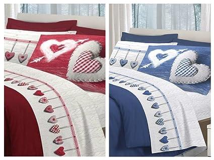Offerta di San Valentino !! 2 Completi lenzuola MATRIMONIALI - Cuori ...