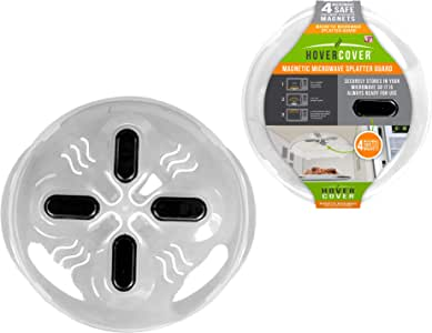 Hover Cover Magnetic Microwave Splatter Lid with Steam Vents Cover   Dishwasher Safe BPA Free   11.5 Inch