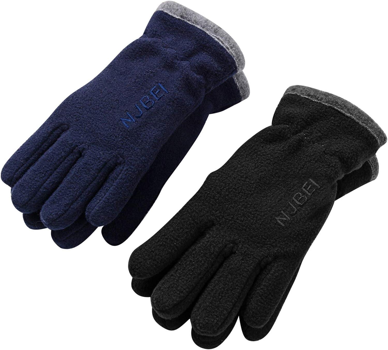 Kids Winter Gloves Boys Girls Warm Touchscreen Glove Pair Cold Weather Thermal Soft for Junior Children Outdoor Sports School Bike Age 4-15