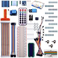 Kuman 35個 Raspberry Piに適用 初心者 電子工作 1602液晶ディスプレイ+温度/湿度センサ+BMP180デジタル気圧センサー+HC-SR501赤外線モーションセンサモジュール 子供遊び Raspberry Pi 3 2 model B A A+ + に対応 電子工作入門キット ラズベリーパイ K71