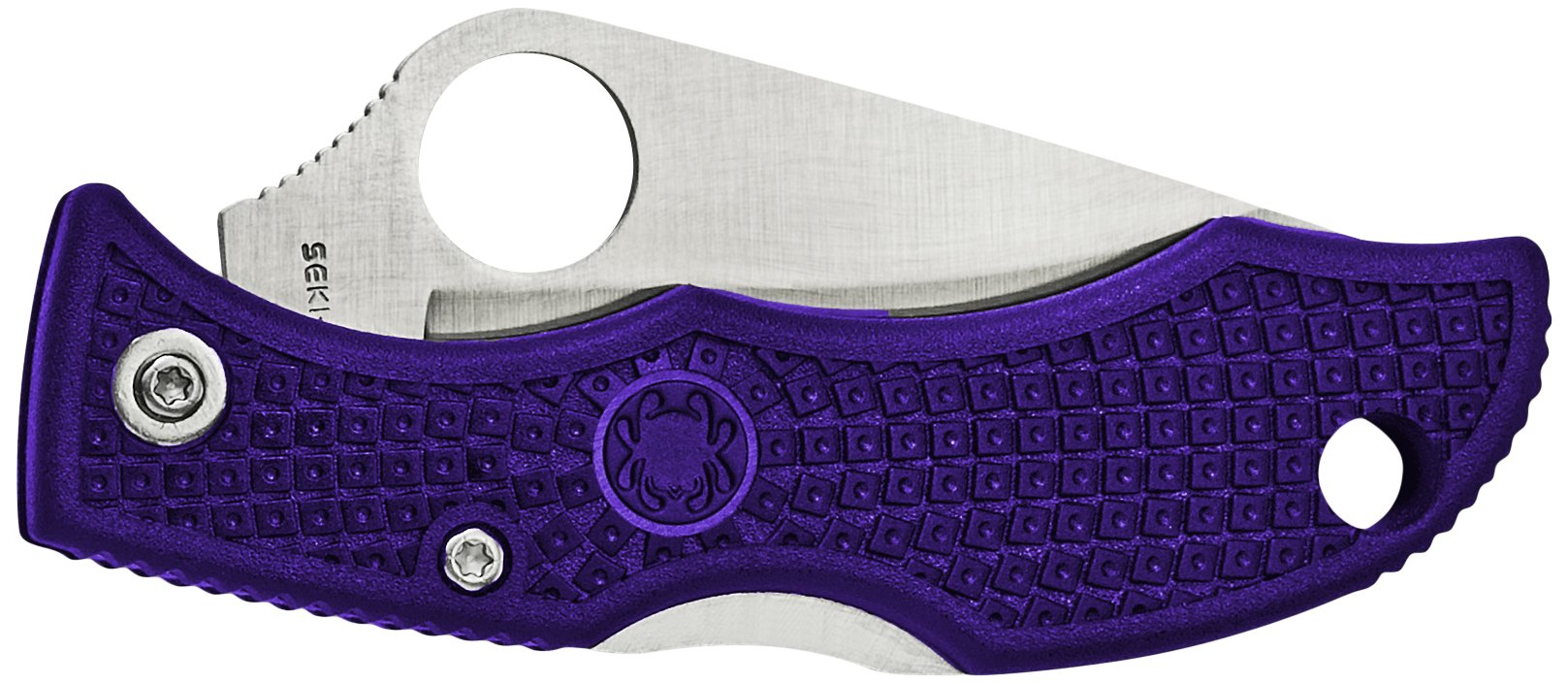 Spyderco Ladybug 3 Plain Edge Folding Knife, Purple by Spyderco (Image #2)
