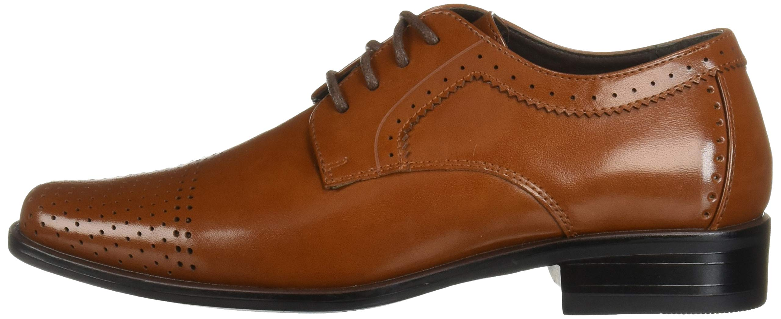 STACY ADAMS Unisex Sanborn Perfed Cap Toe Lace-Up Oxford, Cognac 5 M US Big Kid by STACY ADAMS (Image #5)