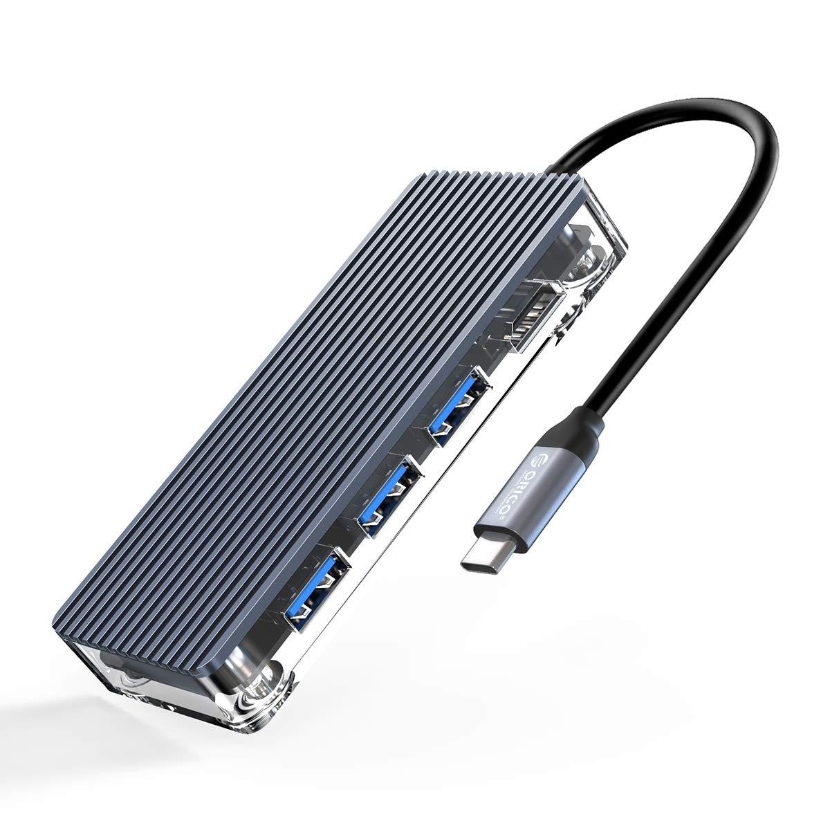 ORICO USB-C Hub 6-in-1 USB-C Adaptador con 4K HDMI SD/TF Car