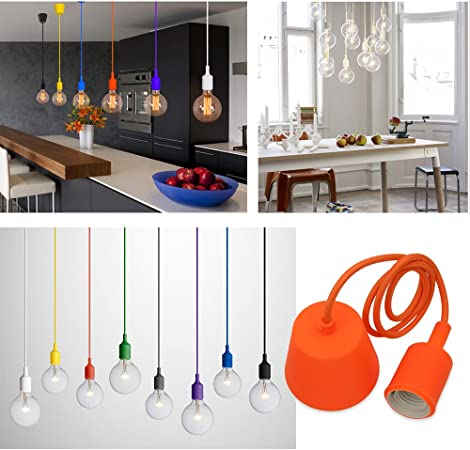 Princeway Couleur Silicone Luminaire Suspension Style Europeen