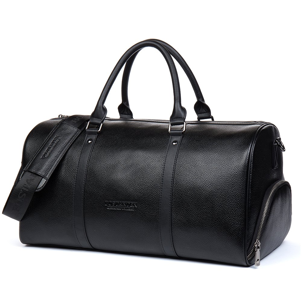 Amazon.com   BOSTANTEN Genuine Leather Travel Weekender Overnight Duffel  Bag Gym Sports Luggage Tote Duffle Bags For Men   Women   Travel Duffels 1f7e31b58d