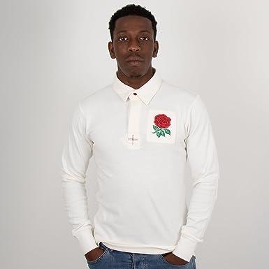 902362f00ba England Vintage Rugby Shirt - White - Size 6XL: Amazon.co.uk: Clothing