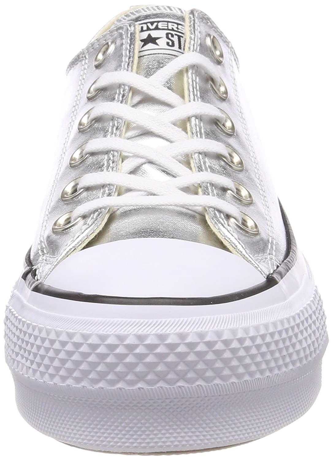 Converse Women's Chuck Taylor All Star Lift Ox Casual Shoe B073C7D633 10 B(M) US|Silver/Black/White