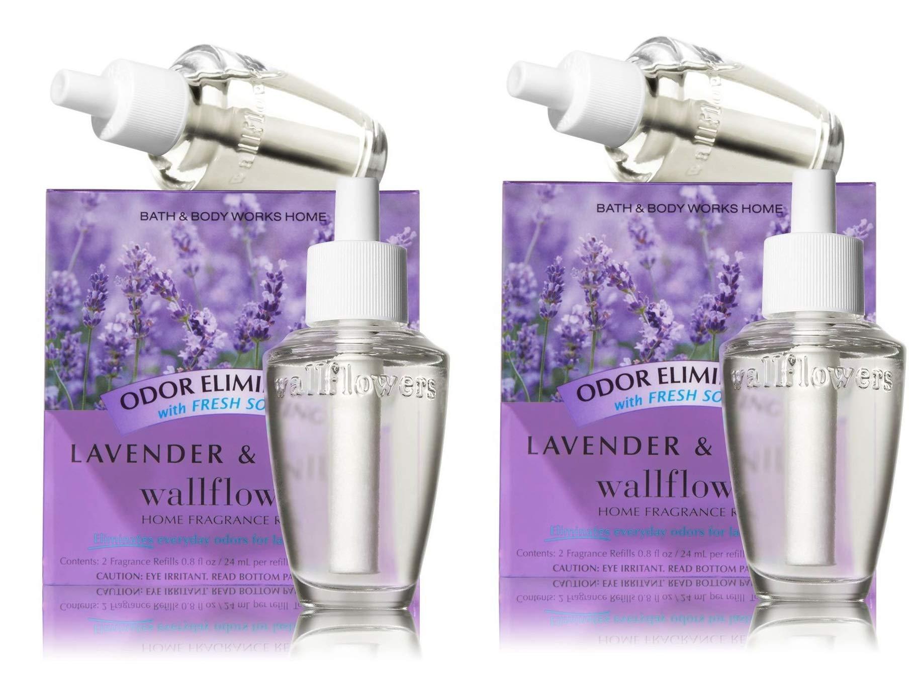 Bath & Body Works Wallflower Bulb Refills - Lavender & Vanilla - TWO Boxes, FOUR bulbs!