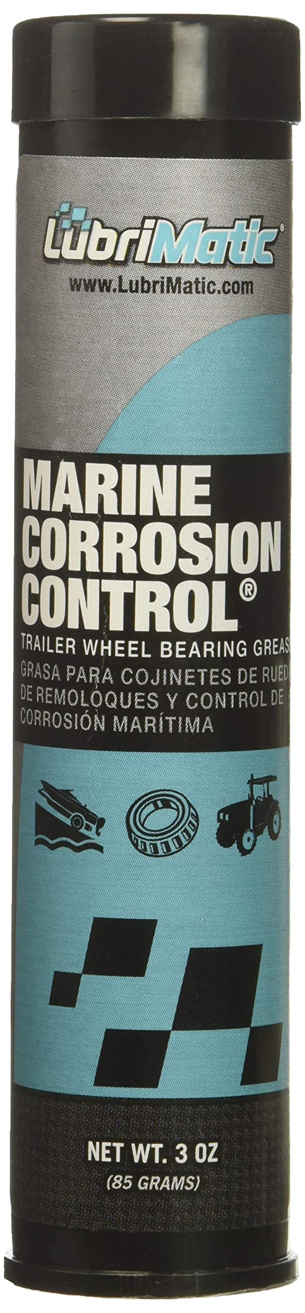 LubriMatic Aqua 11400 Marine Trailer Wheel Bearing and Corrosion Control Grease, 3 oz. Cartridge